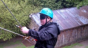 New adventures - blindfolded abseiling